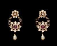 Diamond earrings Royalty Free Stock Photography