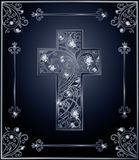 Diamond Easter cross cover design Royalty Free Stock Photography