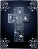 Diamond Easter cross greeting card Royalty Free Stock Photography