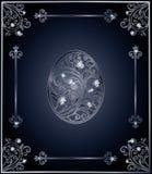 Diamond Easter egg cover design Stock Images