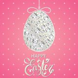 Diamond Easter egg decoration. Royalty Free Stock Photos