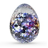 Diamond egg Royalty Free Stock Photo