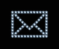 Diamond Email Icon Royalty Free Stock Images