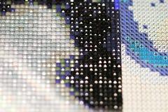 Diamond embroidery - new trendy type of hobby Stock Photography