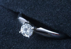 Diamond Engagement ring. Diamond ring macro Royalty Free Stock Photography