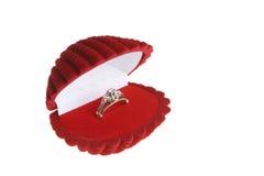 Diamond engagement ring Stock Images