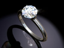 Diamond engagement ring Royalty Free Stock Photo
