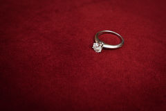 Diamond engagement ring Stock Photo