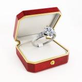 Diamond Engagement Ring Royaltyfria Bilder