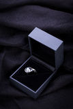 Diamond engagement ring in a box Royalty Free Stock Image