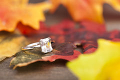 Diamond Engagement ring Stock Images