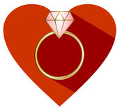 Diamond engagement ring Stock Photography