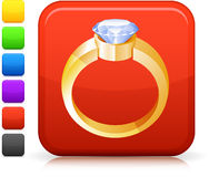Diamond engagement ring icon Stock Photo