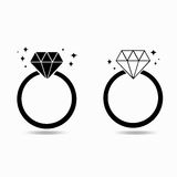 Diamond engagement ring of love concept Royalty Free Stock Photos