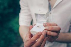 Diamond engagement ring royalty free stock photos