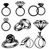 Diamond engagement ring Royalty Free Stock Photo