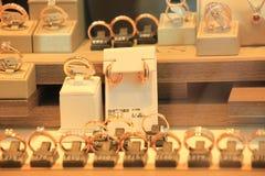 Diamond engagement rings Royalty Free Stock Photo