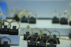 Diamond engagement rings Stock Photography