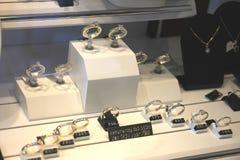 Diamond engagement rings Royalty Free Stock Photos