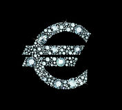 Diamond Euro Sign Stock Photography