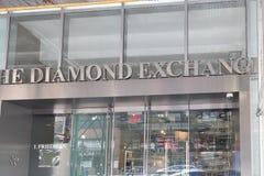 The Diamond Exchange store in New York city. New York, August 18, 2018:The Diamond Exchange store in New York city Royalty Free Stock Photos