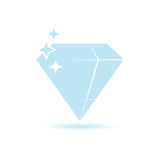 Diamond expensive color vector. Illustration Stock Image