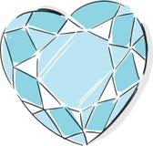 Diamond Fashion Style Illustration en forma de corazón Fotos de archivo libres de regalías