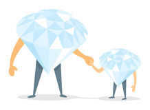 Diamond father and son holding hands Stock Photo