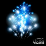 Diamond Firework Display Imagenes de archivo