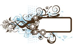 Diamond Floral Frame. Vector illustration of floral frame with diamonds Stock Photography