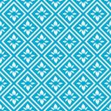 Diamond Floral Seamless Pattern illustrazione vettoriale