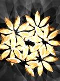 Diamond flower 2. Diamond flowers on the dark background, shining jewelry. Illustration made on computer Stock Illustration