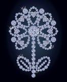 Diamond flower banner, vector illustration Stock Photos
