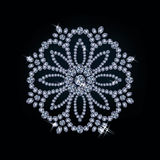 Diamond flower card Stock Photography