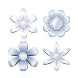 Diamond flowers Royalty Free Stock Photo