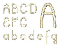 Diamond font Royalty Free Stock Image