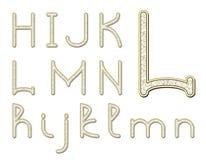 Diamond font Stock Image