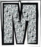 Diamond Font-Buchstabe m Stockbild