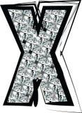 Diamond Font-Buchstabe X Lizenzfreies Stockfoto