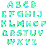 Diamond font. English diamond alphabet for design. vector set Stock Photos