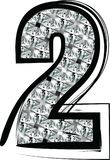 Diamond Font Number 2 Stockbilder