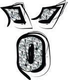 Diamond Font Symbol Illustration de Vecteur