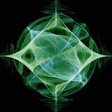 Diamond Fractal With Star vert Photo libre de droits