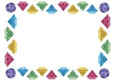 Diamond frame Royalty Free Stock Image