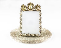Diamond frame. A close up of a small square photo frame on a bead base Stock Photos