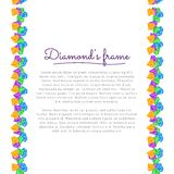 Diamond Frame Royalty Free Stock Image