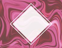 Diamond frame in marble background vector illustration