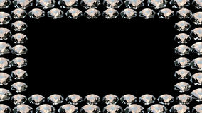 Diamond frame - seamless loop stock video footage