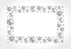 Diamond frame Royalty Free Stock Photo