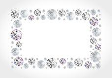 Diamond frame Royalty Free Stock Photo